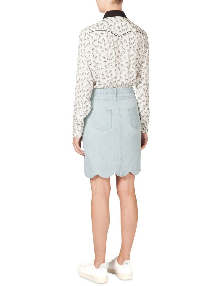 Scallop Hem Denim Skirt (MLP) image 3
