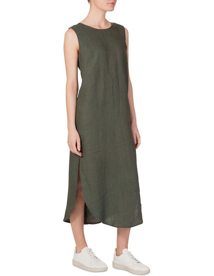 Linen Back V Neck Dress image 1