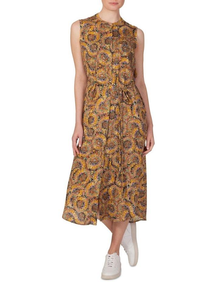 Silk Sleeveless Button Through Dress image 1