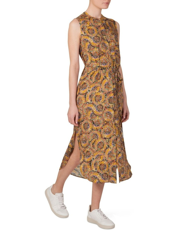Silk Sleeveless Button Through Dress image 2
