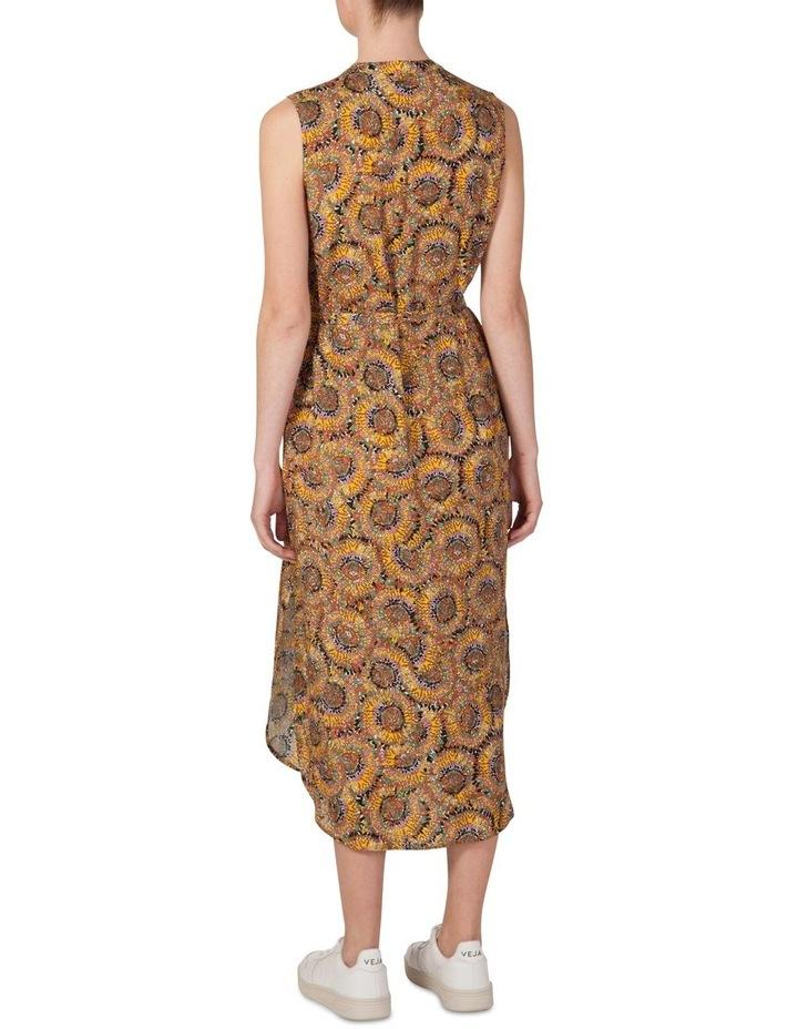 Silk Sleeveless Button Through Dress image 3