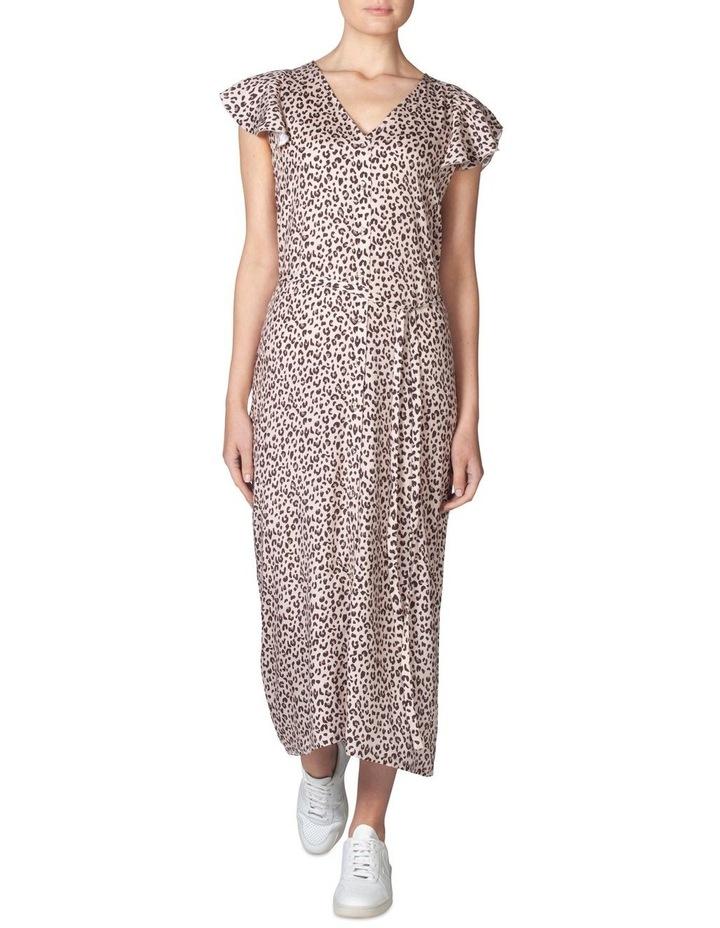 Silk Frill Sleeve Dress image 1
