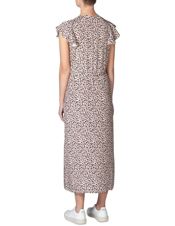 Silk Frill Sleeve Dress image 3