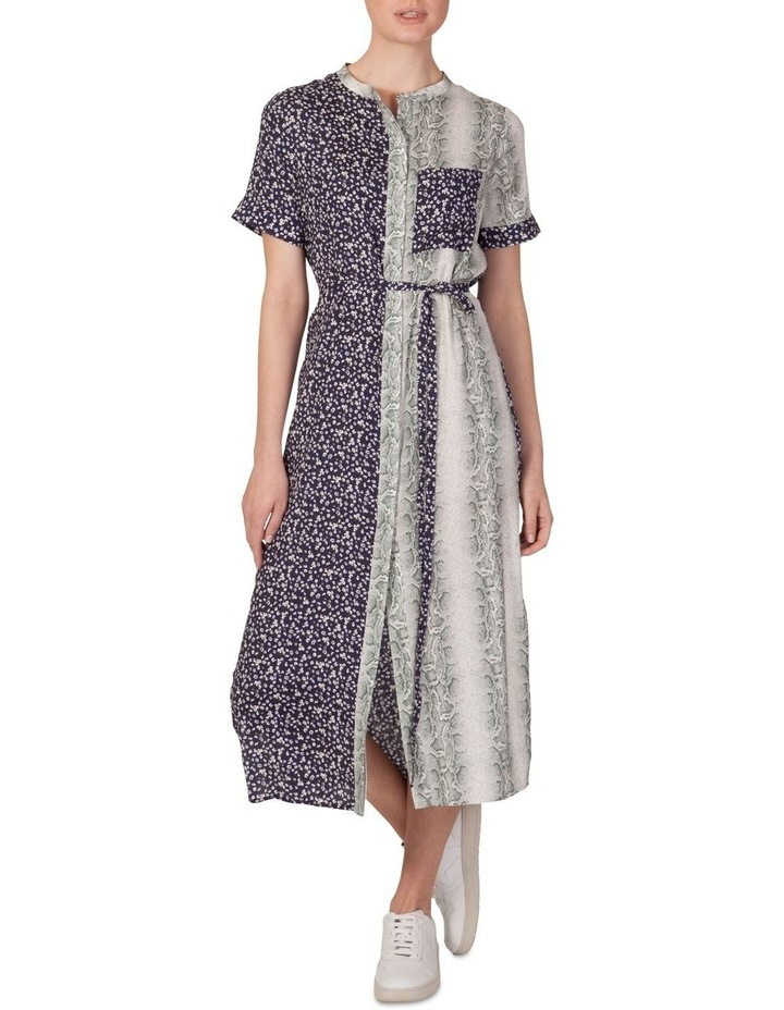 Multi Print Shirt Maxi Dress image 1