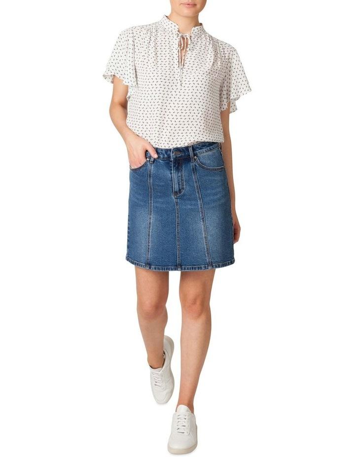 Denim Panel Skirt image 1
