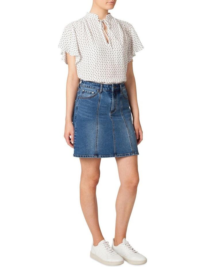 Denim Panel Skirt image 2