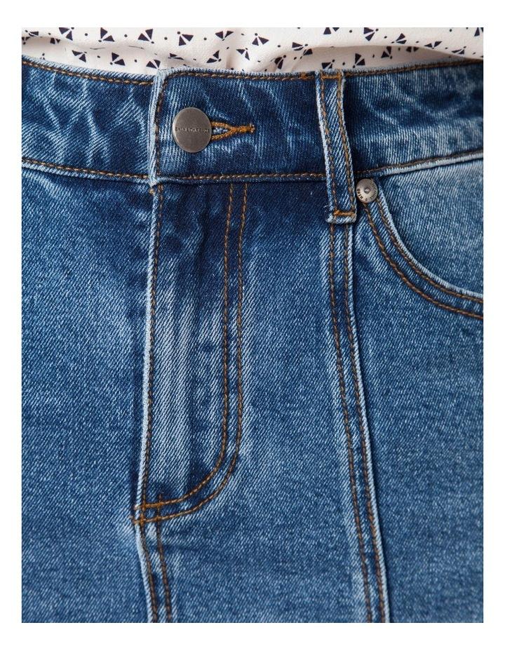 Denim Panel Skirt image 4