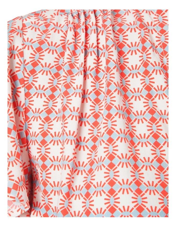 Flutter Sleeve Print Top image 3