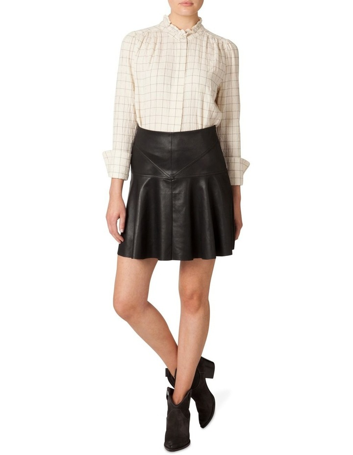 Faux Leather Flounce Skirt image 1