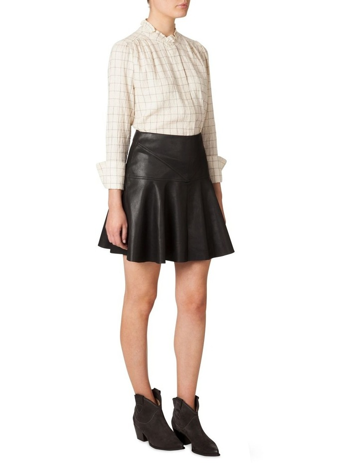 Faux Leather Flounce Skirt image 2