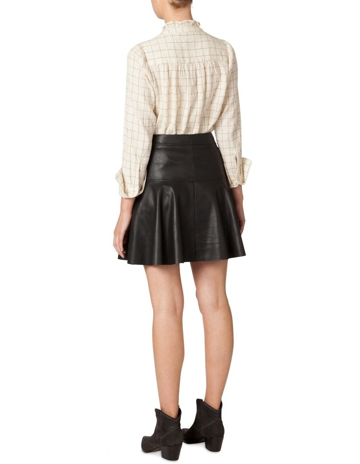 Faux Leather Flounce Skirt image 3