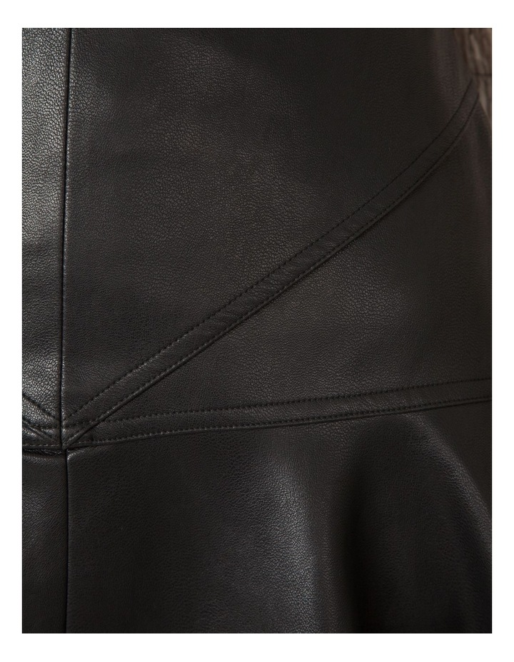 Faux Leather Flounce Skirt image 4