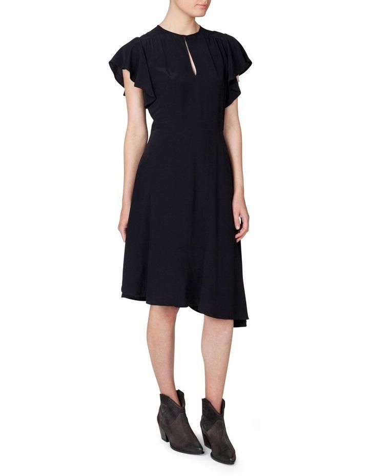 Asymmetrical Flutter Sleeve Dress image 2