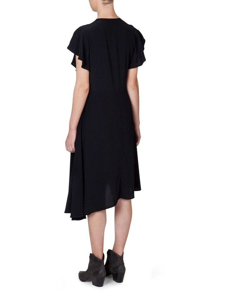 Asymmetrical Flutter Sleeve Dress image 3