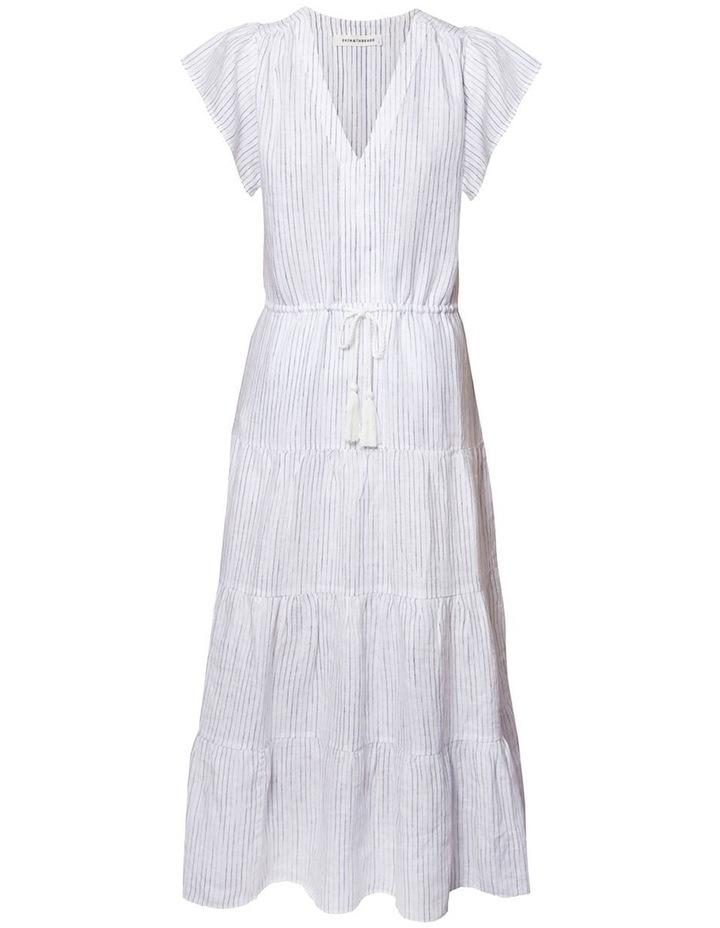 Linen Tiered Maxi Dress image 1
