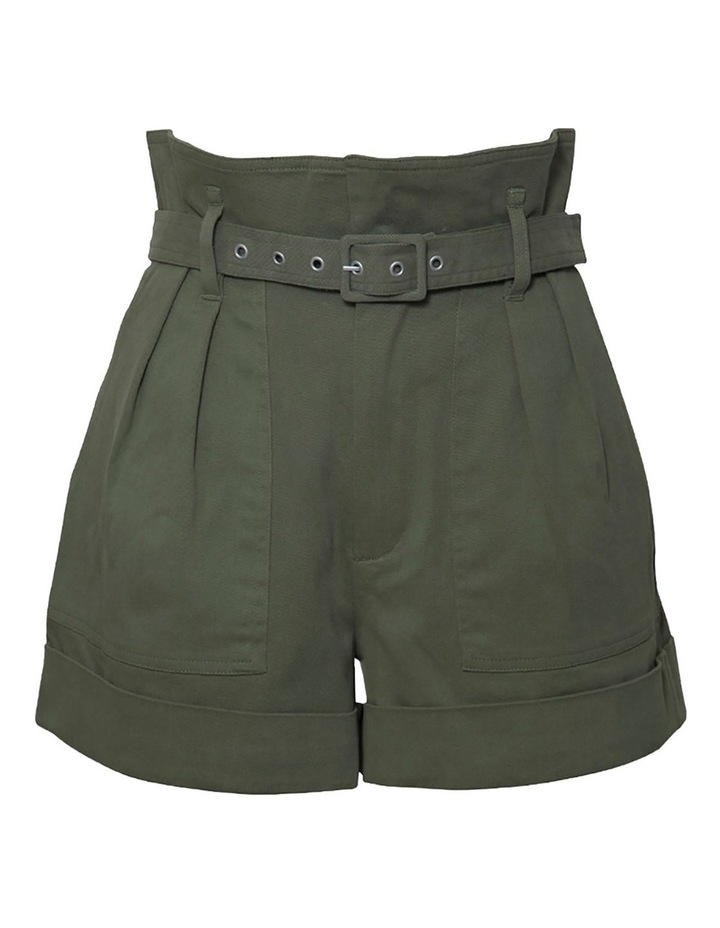 Cotton Belted Shorts image 1