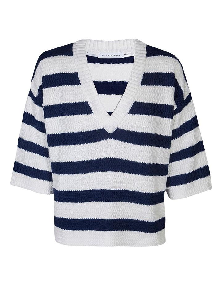 Cotton Textured Stripe Knit image 1