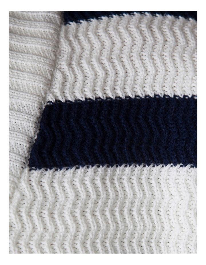 Cotton Textured Stripe Knit image 2