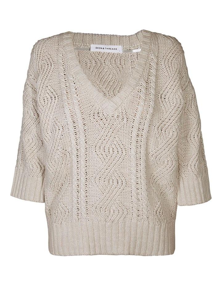 Linen-Cotton Cable Knit image 1
