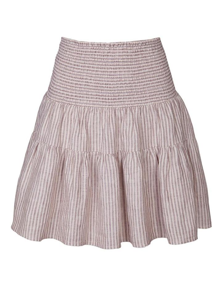 Linen Shirred Frill Skirt image 1