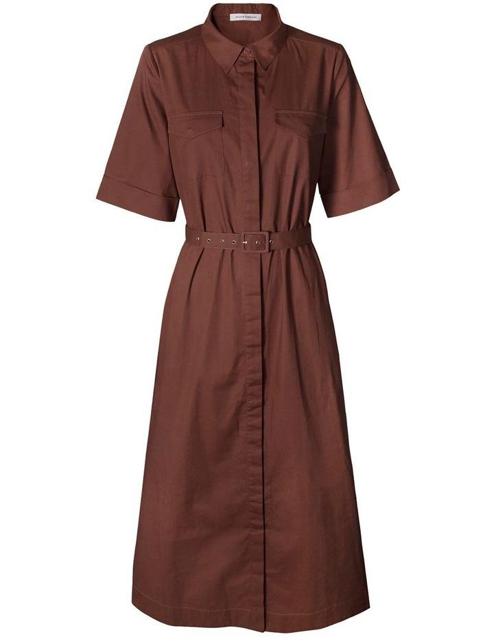 Cotton-Poplin Belted Midi Dress image 1