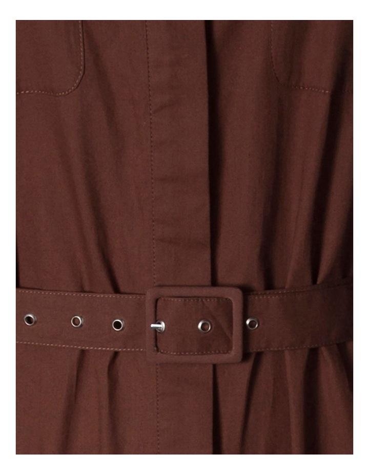 Cotton-Poplin Belted Midi Dress image 2