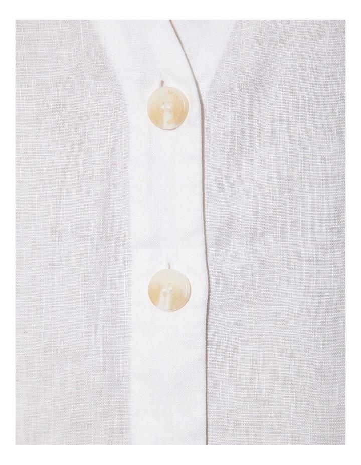 Linen Back V Neck Dress image 2