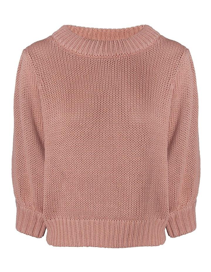 Cotton-Linen Puff Sleeve Knit image 1