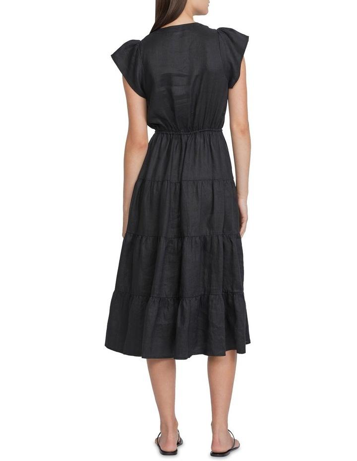 Linen Tiered Maxi Dress image 3