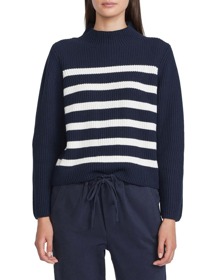 Chunky Cotton Stripe Knit image 1