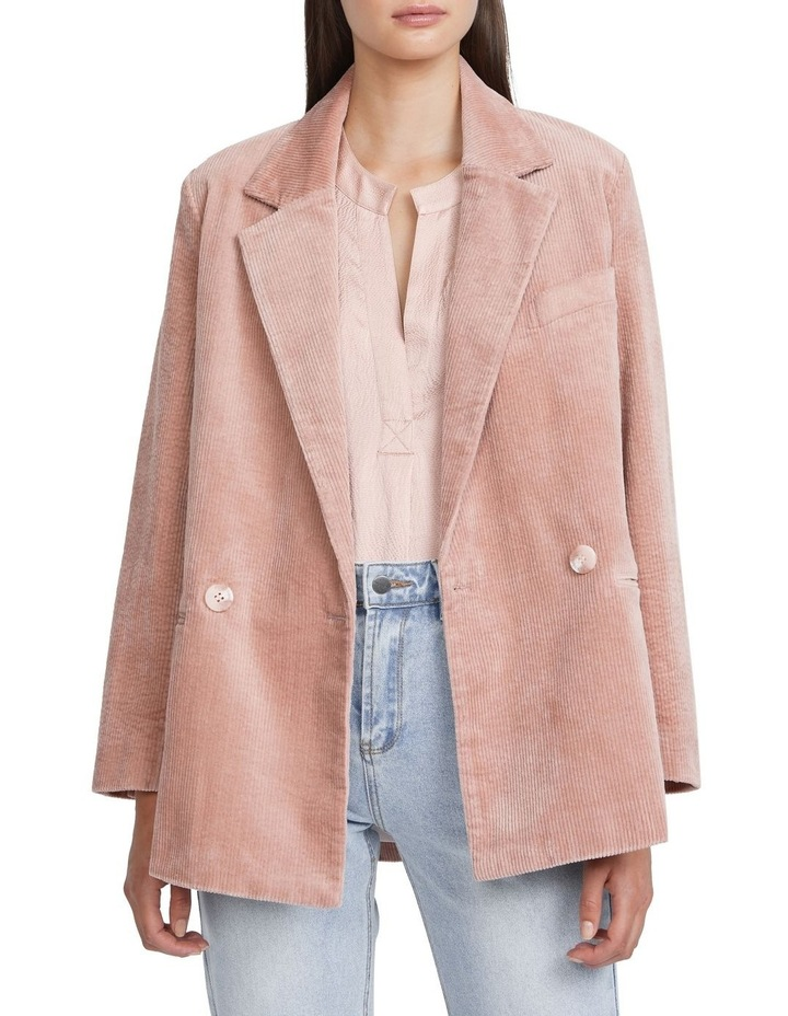 Textured Cotton Blazer image 1