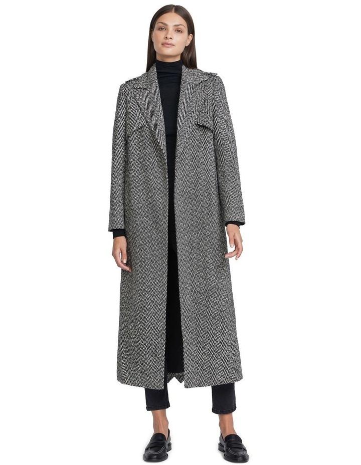 Herringbone Wool Coat image 1