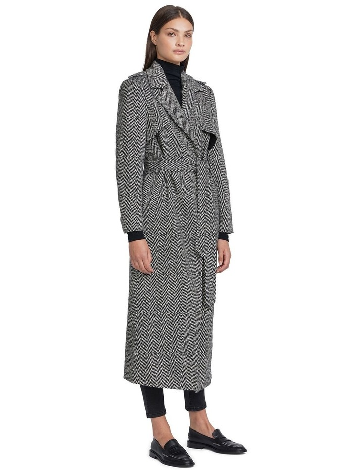 Herringbone Wool Coat image 2