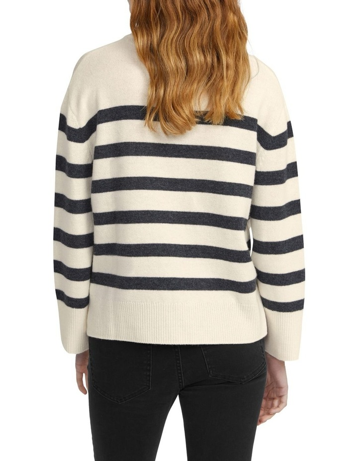 Merino Wool Stripe Crew Knit image 3