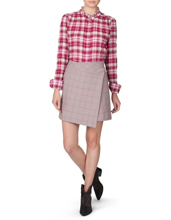 Houndstooth Wrap Skirt image 1