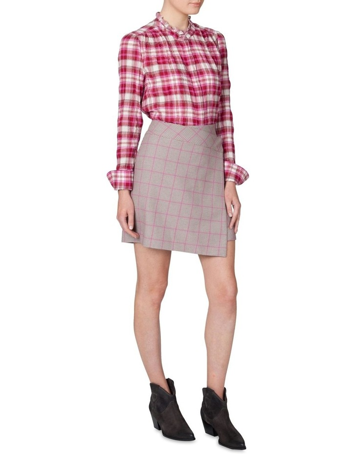 Houndstooth Wrap Skirt image 2