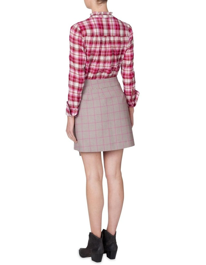 Houndstooth Wrap Skirt image 3