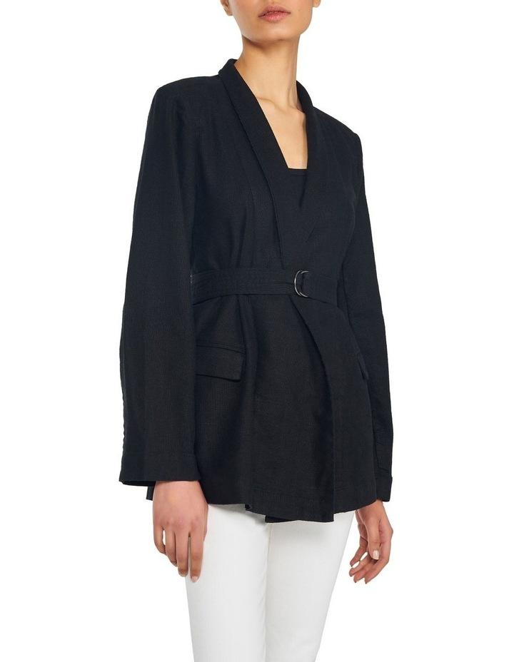 Cotton Linen Belted Blazer image 1