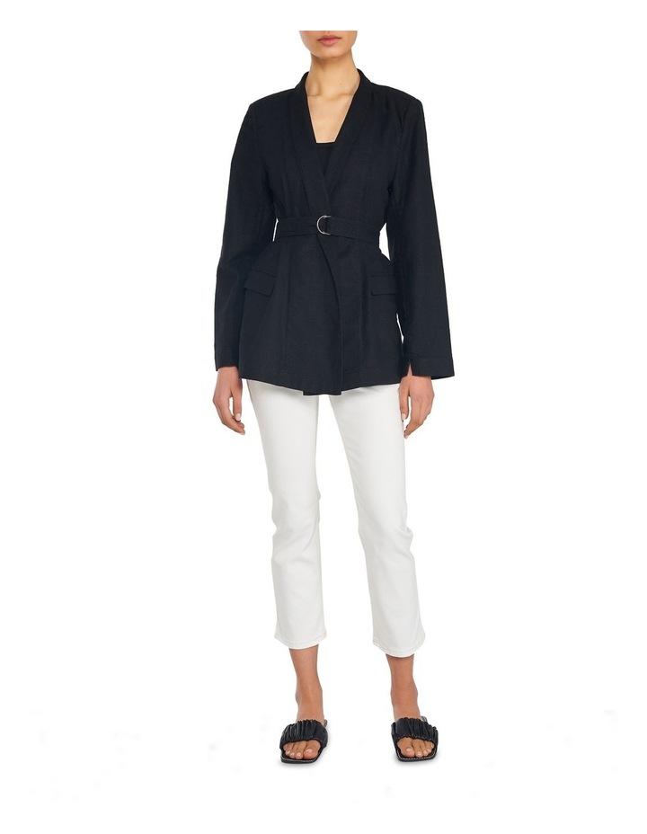 Cotton Linen Belted Blazer image 2