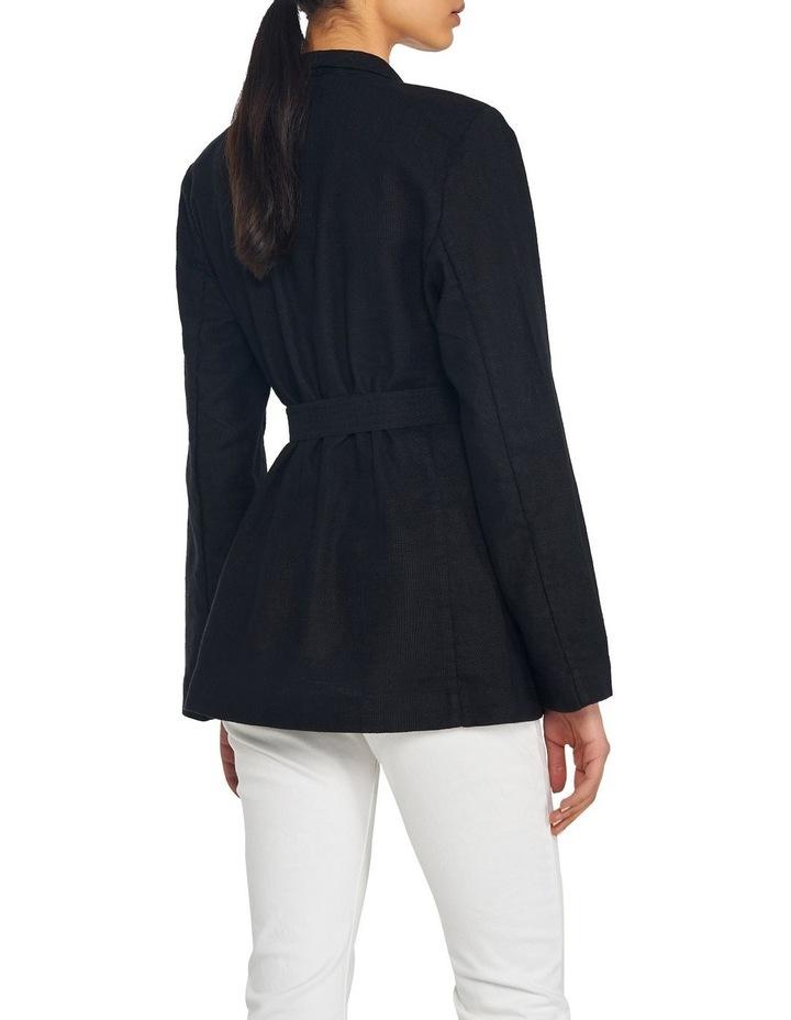 Cotton Linen Belted Blazer image 3