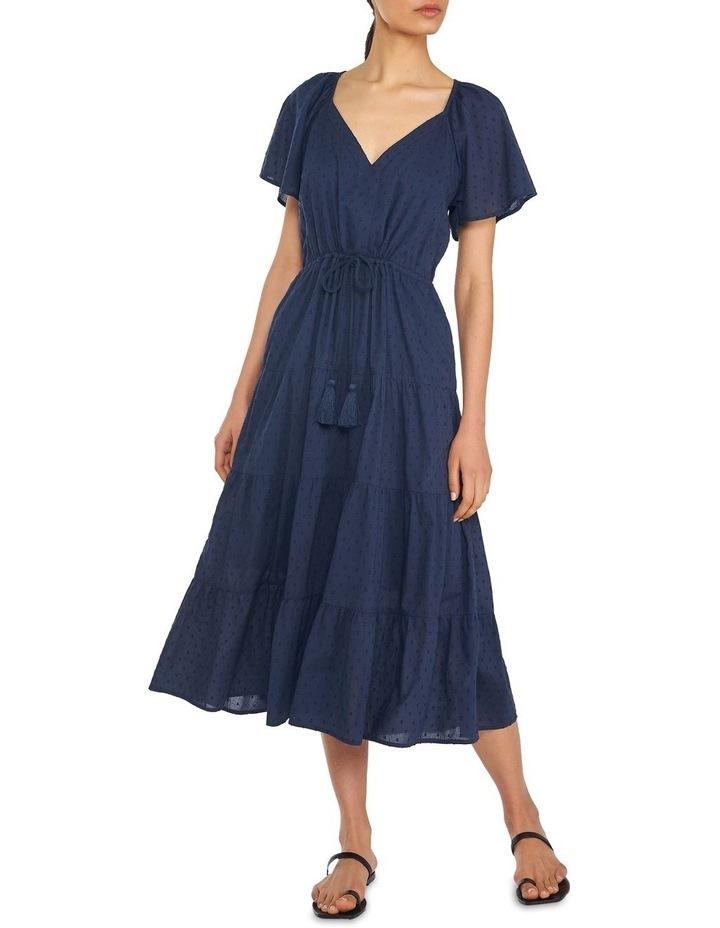 Cotton Dobby Tiered Maxi Dress image 1