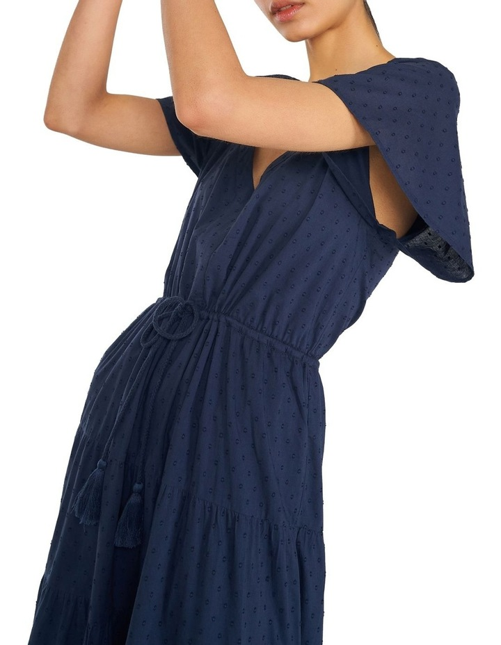 Cotton Dobby Tiered Maxi Dress image 2