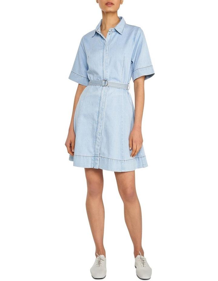 Denim Belted Mini Dress image 1