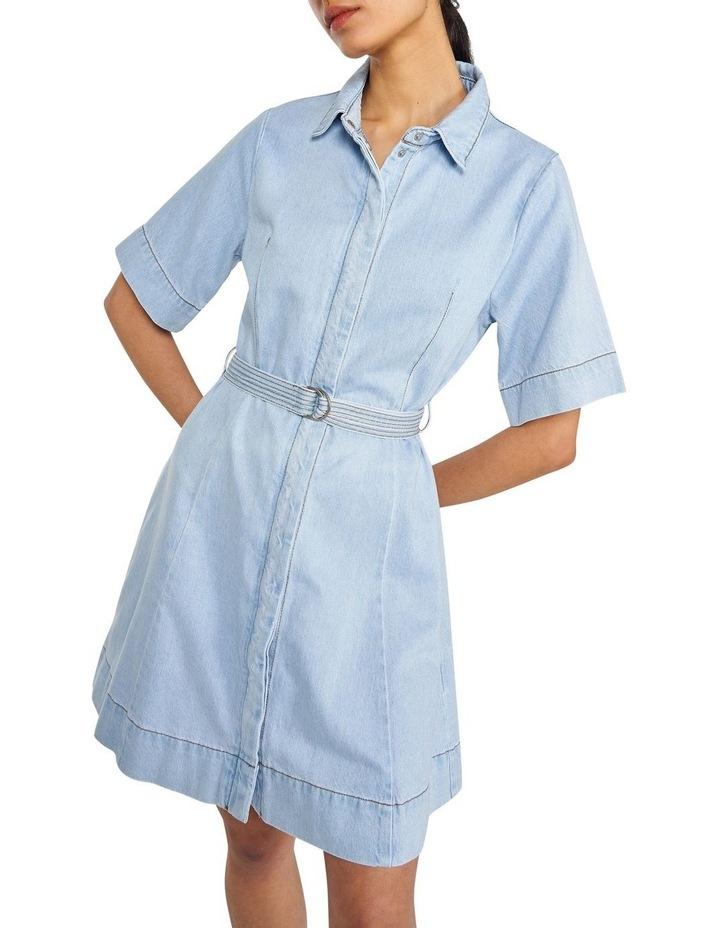Denim Belted Mini Dress image 2