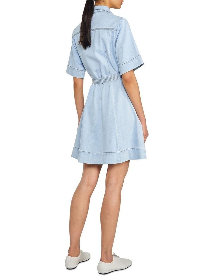 Denim Belted Mini Dress image 3