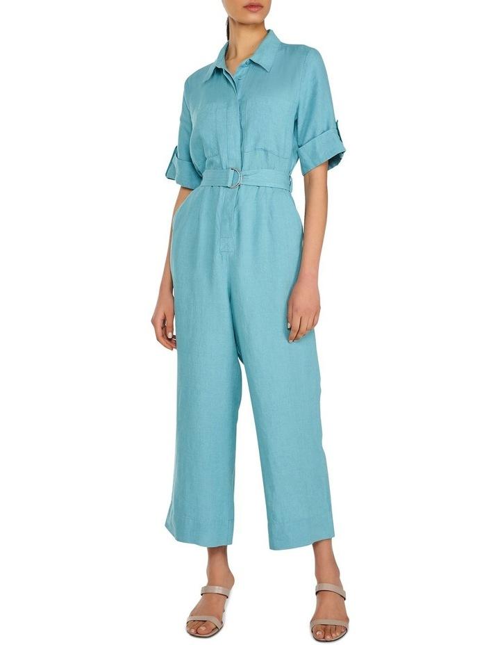 Linen Belted Jumpsuit image 1