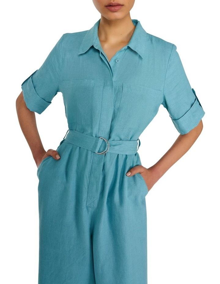 Linen Belted Jumpsuit image 2
