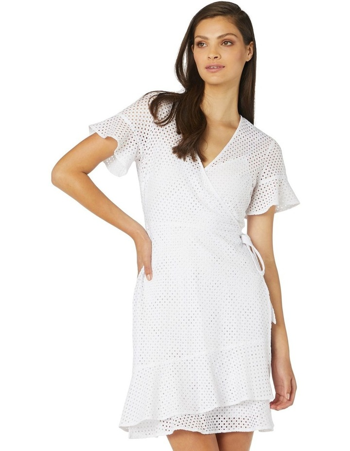 Petite Lace Wrap Dress image 1