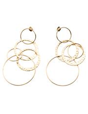 SABA - Elise Drop Circle Earrings