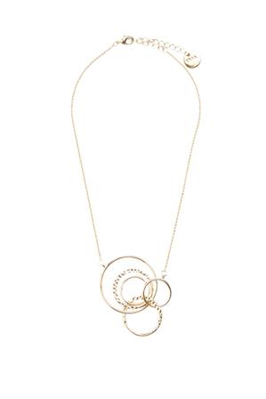 SABA - Elise Drop Circle Necklace